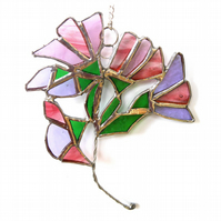 Sweet Pea Suncatcher Stained Glass Flower Sweetpea