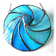 Ripwave Stained Glass Suncatcher Handmade Sea 007