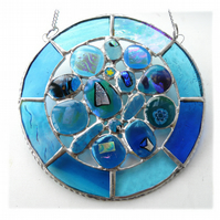 Rockpool Suncatcher Stained Glass Abstract Handmade fused 024