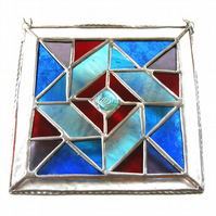 Patchwork Quilt Suncatcher Stained Glass