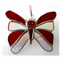 RESERVED Birthstone Butterfly Suncatcher Stained Glass Garnet January