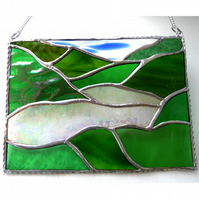 Lake District Panel Stained Glass Picture Landscape 008