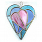 Pastel Triple Heart Stained Glass Suncatcher 005