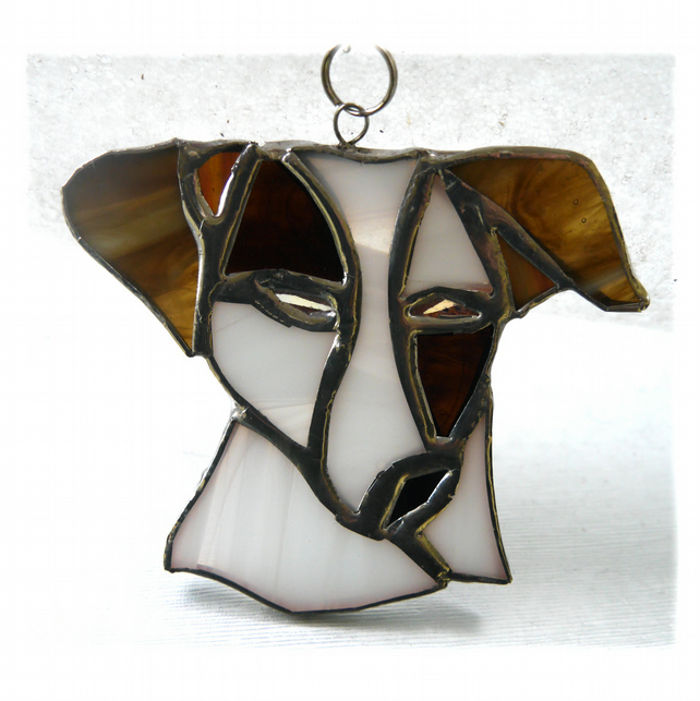 Jack Russell Suncatcher Stained Glass Dog Terrier