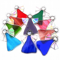 Angel Stained Glass suncatcher Christmas decoration