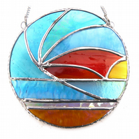 Sunset Waves Suncatcher Stained Glass 010