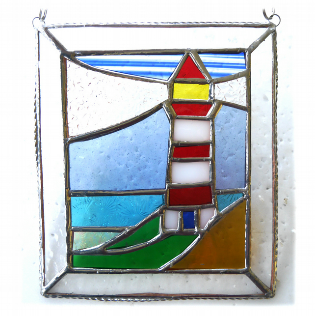 Lighthouse Suncatcher Stained Glass Picture 015