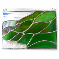 Scottish Mountains Panel Stained Glass Picture Landscape 015
