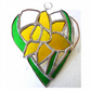Daffodil Heart Suncatcher Stained Glass 027