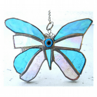 Birthstone Butterfly Suncatcher Stained Glass Turquoise December 062