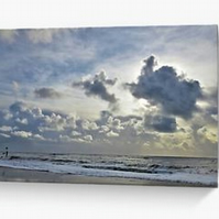 Sand Sea and Sky II photographic blank greeting card notelet