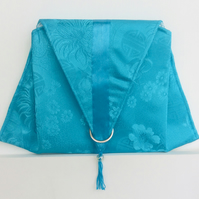 Turquoise clutch, evening, wedding, special occasion handbag