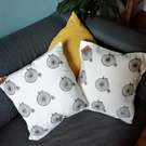 Handprinted Cushion Penny Fathing Cushion
