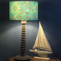 Millefiori Drum Lampshade in Green