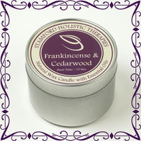 Frankincense & Cedarwood Aromatherapy Tin Candle