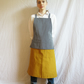 Adjustable Crossback Apron, Stripe Denim and Canvas No23.1