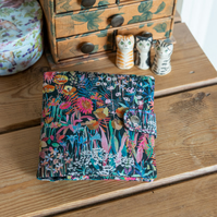 Sewing case or kit made with sophisticated Liberty Tana Lawn 'Faria' print