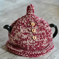 Heart Chunky Knitted Teapot Cover, Tea Cozy