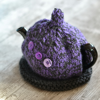 Purple Button Chunky Teapot Cozy Cosie Cover.