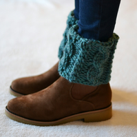Fir Cable Boot Topper Cuffs Ankle Warmers