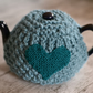 Heart Super Chunky Knitted 4-6 Cup  Tea Cosy Cover