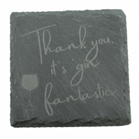 Gin Coaster - 'Thank you, it's gin fantastic'