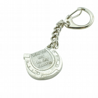 Horseshoe Keyring - 'You're my lucky charm'