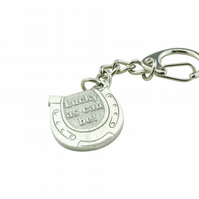 Horseshoe Keyring - 'Lucky as can be'