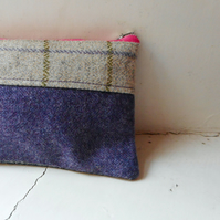Make up or pencil case in harris tweed - Dunsapie