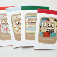 Christmas cards set of 4