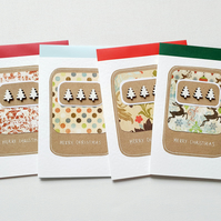 Christmas cards pack of four