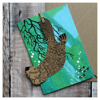 Beaver Wildlife Tag Card (includes charity donation)