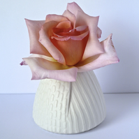 A unique porcelain posy vase , hand made in Winchester