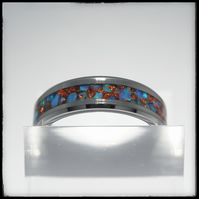 Ring. Handmade Opal inlay And Copper Ring.