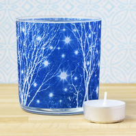 Starry Night Cyanotype Tea light holder
