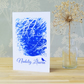 Nadolig Llawen Welsh Christmas card from Cyanotype art