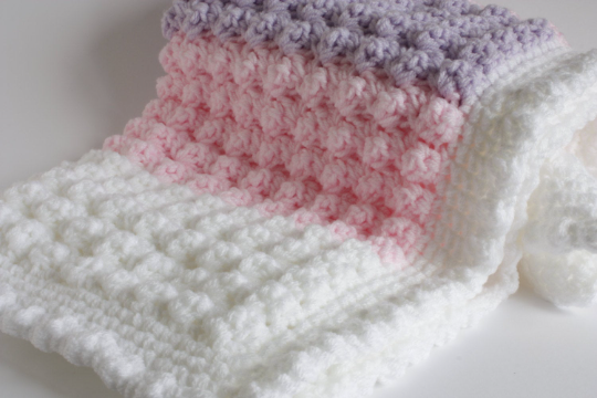 Crochet Baby Blanket, New Baby Girl Gift, Baby Shower Gift