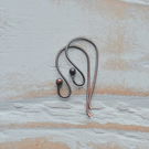 Handmade Aged Copper Ball Earwires, Set of 3 Pairs