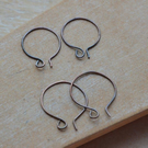 Handmade Aged Copper Earwires, Set of 3 Pairs