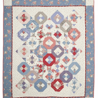 Old Rose Patchwork Quilted Bedspread