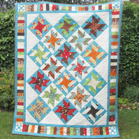 Coffee Lovers Patchwork Quilt