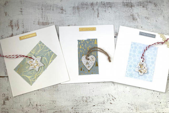 Christmas card set of 3, gift and card combined, stocking filler