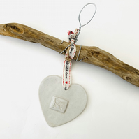 Bespoke Driftwood Loveheart hanger, handmade, one off design, home decor
