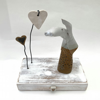 Ceramic animal, one off, clay, pottery, gift idea, present