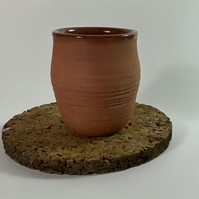 Terracotta hand thrown beaker