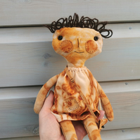 Art Doll, Rusty - hand sewn collector's soft sculpture figure