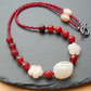 Agate and Quartzite  Beaded Necklace