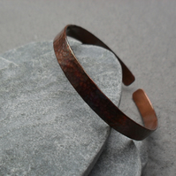 Oxidised Copper Bangle Bracelet Vintage Style