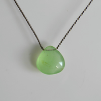 Apple Green Chalcedony Necklace