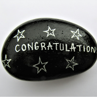 Congratulations Gift, Painted Rock, Well Done Gift, Hand Painted Stone, Pebble